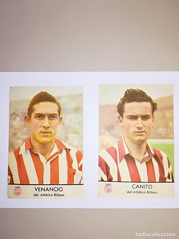 2 FOTOCROMOS FUTBOL AÑO 1953 VENANCIO Y CANITO (Coleccionismo Deportivo - Álbumes y Cromos de Deportes - Cromos de Fútbol)