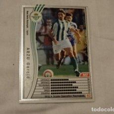 Cromos de Fútbol: CROMO CARD WCCF LIGA 2005-06 PANINI DE JAPÓN REAL BETIS ARZU (TENGO MAS MIRA MIS LOTES). Lote 118274083