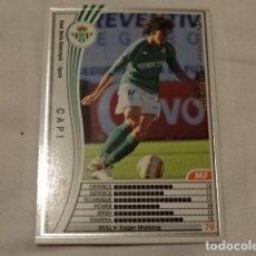 Cromos de Fútbol: CROMO CARD WCCF LIGA 2005-06 PANINI DE JAPÓN REAL BETIS CAPI (TENGO MAS MIRA MIS LOTES). Lote 118274487