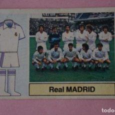 Cromos de Fútbol: CROMO DE FÚTBOL ALINEACIÓN DEL REAL MADRID C.F. DESPEGADO LIGA ESTE 1982-1983/82-83. Lote 148246226
