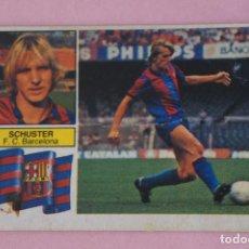 Cromos de Fútbol: CROMO DE FÚTBOL SCHUSTER DEL F.C. BARCELONA DESPEGADO LIGA ESTE 1982-1983/82-83. Lote 255925595