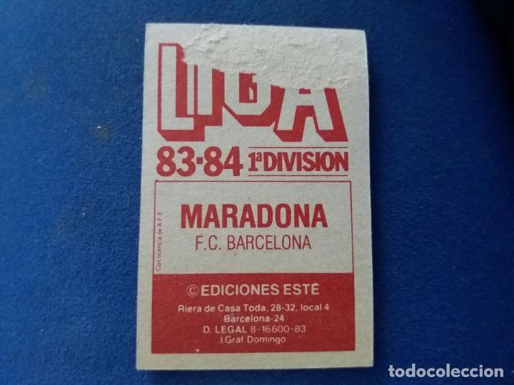 Cromos de Fútbol: 83/84 ESTE. BARCELONA MARADONA - Foto 2 - 118398583