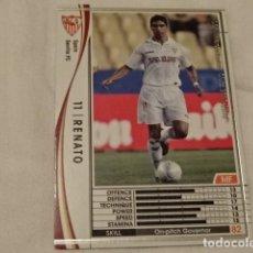 Cromos de Fútbol: CROMO CARD WCCF LIGA 2009-10 PANINI DE JAPÓN SEVILLA RENATO (TENGO MAS MIRA MIS LOTES). Lote 118456827