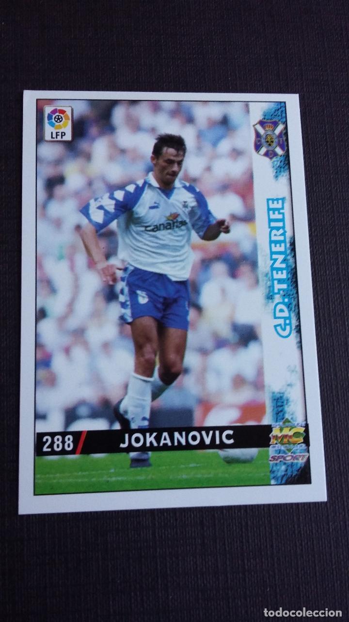 MUNDICROMO 98 99 1998 1999 - 288 JOKANOVIC - C.D. TENERIFE ( VERSIÓN CORREGIDA ) (Coleccionismo Deportivo - Álbumes y Cromos de Deportes - Cromos de Fútbol)