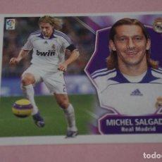 Cromos de Fútbol: CROMO DE FÚTBOL MICHEL SALGADO DEL REAL MADRID C.F. SIN PEGAR LIGA ESTE 2008-2009/08-09. Lote 210703667