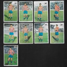 Cromos de Fútbol: LOTE 8 CROMOS FUTBOL REAL GIJON , ALBUM CHOCOLATES LA CIBELES LIGA 1969 1970. DESPEGADOS DE ALBUM. Lote 118956739