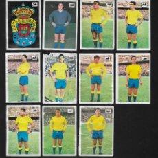 Cromos de Fútbol: LOTE 11 CROMOS FUTBOL LAS PALMAS , ALBUM CHOCOLATES LA CIBELES LIGA 1969 1970. DESPEGADOS DE ALBUM. Lote 118956779