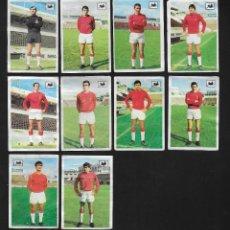 Cromos de Fútbol: LOTE 10 CROMOS FUTBOL C.D MALLORCA , ALBUM CHOCOLATES LA CIBELES LIGA 1969 1970. DESPEGADOS DE ALBUM. Lote 118956823