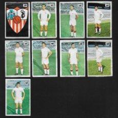 Cromos de Fútbol: LOTE 9 CROMOS FUTBOL SEVILLA , ALBUM CHOCOLATES LA CIBELES LIGA 1969 1970. DESPEGADOS DE ALBUM. Lote 118956883