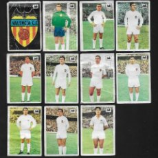Cromos de Fútbol: LOTE 11 CROMOS FUTBOL VALENCIA C.F , ALBUM CHOCOLATES LA CIBELES LIGA 1969 1970. DESPEGADOS DE ALBUM. Lote 118956903