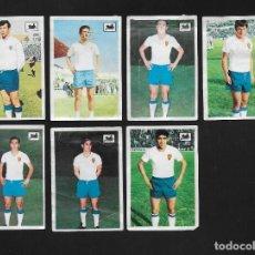 Cromos de Fútbol: LOTE 7 CROMOS FUTBOL REAL ZARAGOZA , ALBUM CHOCOLATES LA CIBELES LIGA 1969 1970. DESPEGADOS DE ALBUM. Lote 118956923