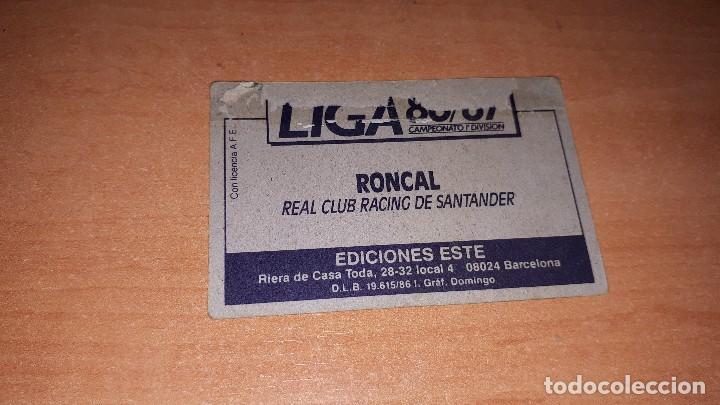 Cromos de Fútbol: Cromo Roncal 86-87 - Foto 2 - 119147303