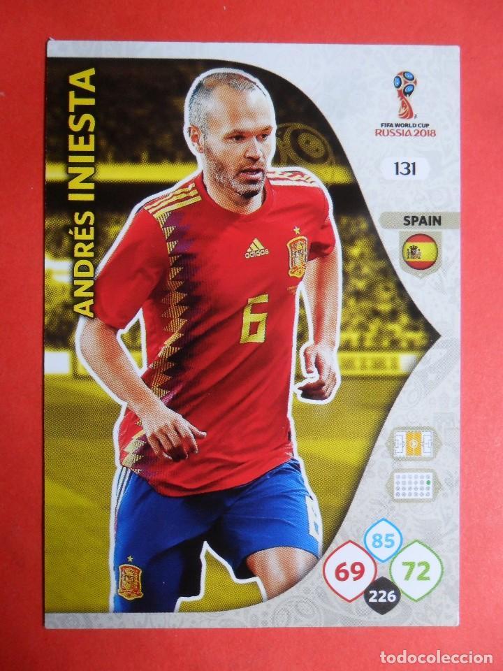 f5934d0b647ee ADRENALYN XL FIFA WORLD CUP RUSSIA RUSIA 2018 - 131 - ANDRES HINIESTA -  ESPAÑA -