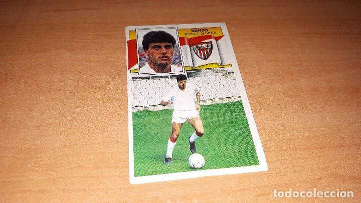 CROMO NANDO 90-91 (Coleccionismo Deportivo - Álbumes y Cromos de Deportes - Cromos de Fútbol)