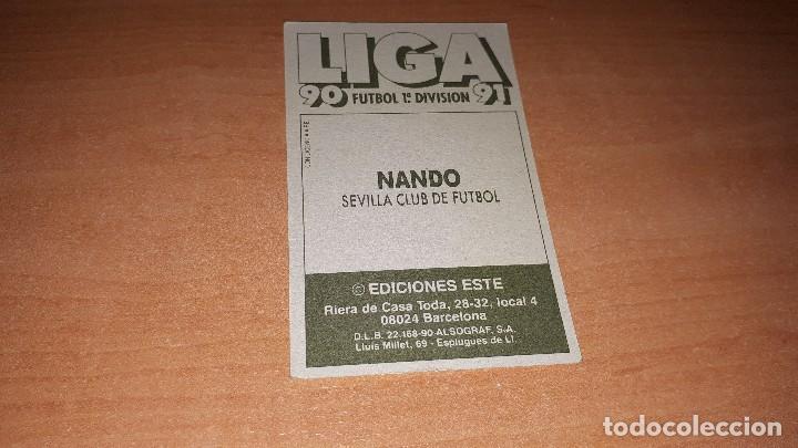 Cromos de Fútbol: Cromo Nando 90-91 - Foto 2 - 120414519
