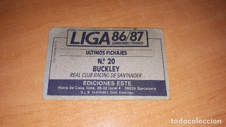 Cromos de Fútbol: Cromo Ian 86-87 - Foto 2 - 120414731