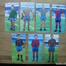 Cromos de Fútbol: RUIZ ROMERO 68-69 LOTE DE 14 CROMOS DEL F.C. BARCELONA EQUIPO COMPLETO NUNCA PEGADOS Y CON RAREZA. Lote 120695559