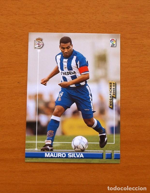 DEPORTIVO LA CORUÑA - Nº 118, MAURO SILVA - MEGAFICHAS LIGA 2003-2004, 03-04 - EDITORIAL PANINI (Coleccionismo Deportivo - Álbumes y Cromos de Deportes - Cromos de Fútbol)