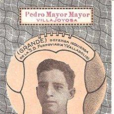 Cromos de Fútbol: GRANDE - DEFENSA IZQ. S.D. FERROVIARIA - PEDRO MAYOR MAYOR VILLAJOYOSA - LA INDUSTRIA ELEFANTINA. Lote 121052419