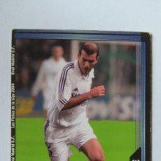 Figurine di Calcio: CROMO FICHAS DE LA LIGA 2004 MUNDICROMO ZIDANE REAL MADRID N17. Lote 121340227