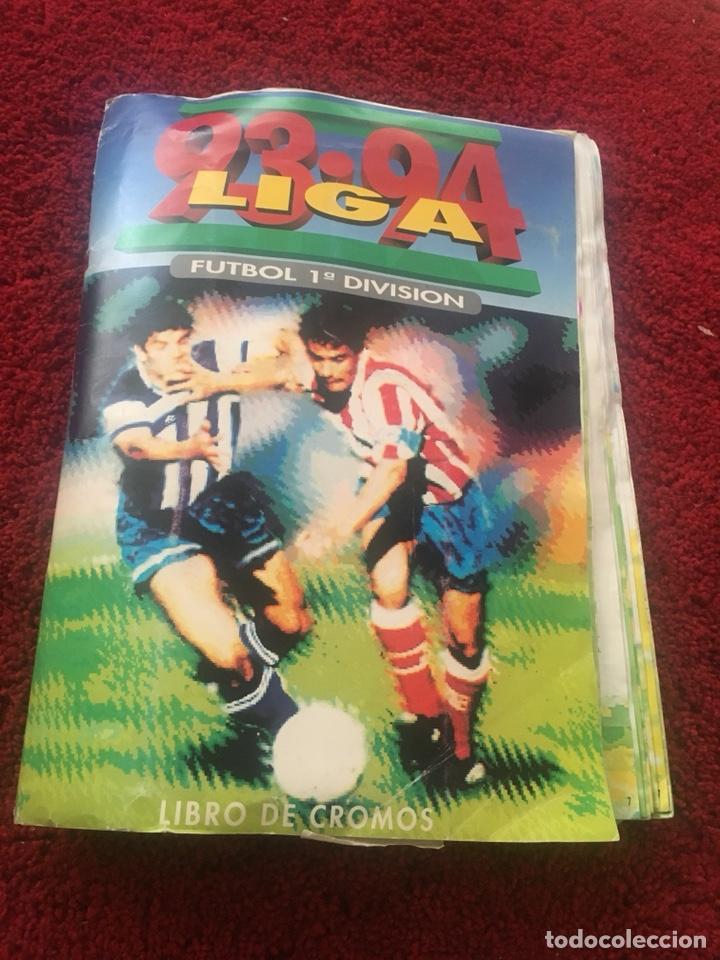 ALBUM INCREÍBLE 93 94 1993 1994 LIGA ESTE A FALTA 8 CROMOS. (Coleccionismo Deportivo - Álbumes y Cromos de Deportes - Cromos de Fútbol)