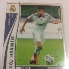 Cromos de Fútbol: CROMO CARD WCCF LIGA 2007-08 PANINI DE JAPÓN REAL MADRID MIGUEL TORRES (TENGO MAS MIRA MIS LOTES). Lote 121394519