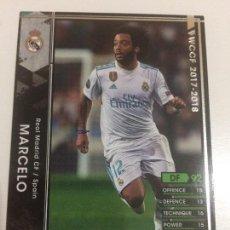 Cromos de Fútbol: CROMO CARD WCCF LIGA 2017-18 PANINI DE JAPÓN REAL MADRID MARCELO (TENGO MAS MIRA MIS LOTES). Lote 121399447