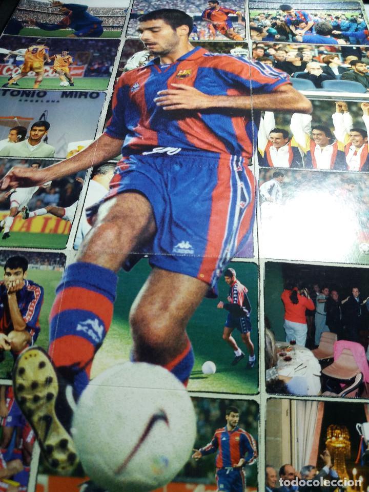 POSTER * GUARDIOLA * COMPUESTO DE 18 CROMOS (Coleccionismo Deportivo - Álbumes y Cromos de Deportes - Cromos de Fútbol)