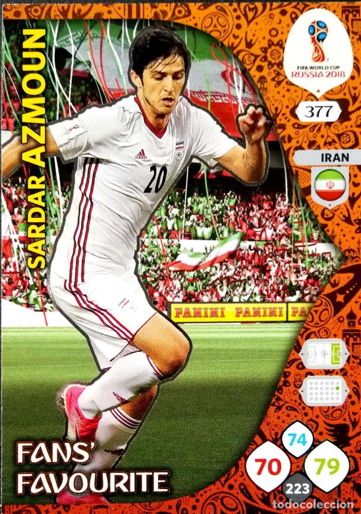 5891cdda102 ... FIFA World Cup. Translate. Share. 377 SARDAR AZMOUN - FANS  FAVOURITE -  IRAN - PANINI ADRENALYN XL 18 2018 RUSSIA