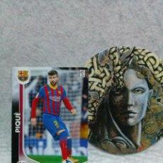 Cromos de Fútbol: MEGACRACKS 2014 2015 PANINI Nº 59 - PIQUÉ (F.C. BARCELONA) - LIGA MGK. Lote 122048007