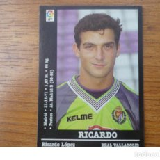 Cromos de Fútbol: CROMO PANINI LIGA FUTBOL 2000 2001 Nº 136 RICARDO (VALLADOLID) - SIN PEGAR - 00 01. Lote 122159299
