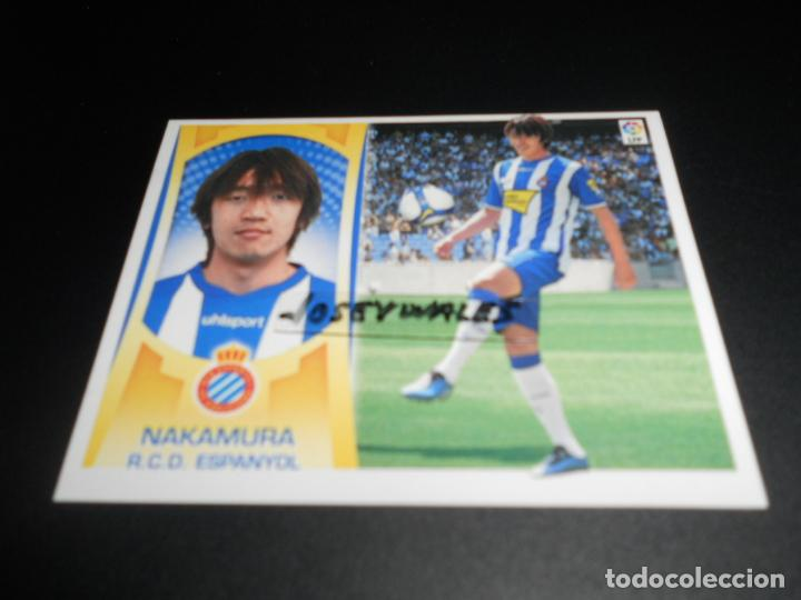 FICHAJE 3 NAKAMURA ESPANYOL CROMOS ALBUM EDICIONES ESTE PANINI LIGA FUTBOL 2009 2010 09 10 segunda mano