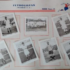 Cromos de Fútbol: EXCELENTE SIN PEGAR REAL MADRID 1932 COLECC CUPON PENINSULAR FUTBOL ZAMORA QUINCOCES PERFECTA CONSER. Lote 122527303