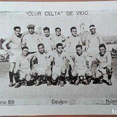 Cromos de Fútbol: CROMO FUTBOL CUPON PENINSULAR SERIE 58 EQUIPO CELTA VIGO 1932 PONTEVEDRA GALICIA PERFECTA CONSERVAC. Lote 122550367