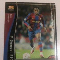 Cromos de Fútbol: CROMO CARD WCCF LIGA 2007-08 PANINI DE JAPÓN FC BARCELONA BARÇA ETO´O ,TENGO MÁS MIRA MIS LOTES. Lote 122764775