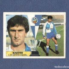 Cromos de Fútbol: EDICIONES ESTE 87/88 MAESTRE (SABADELL) SIN PEGAR. 1987 - 1988. Lote 122855199