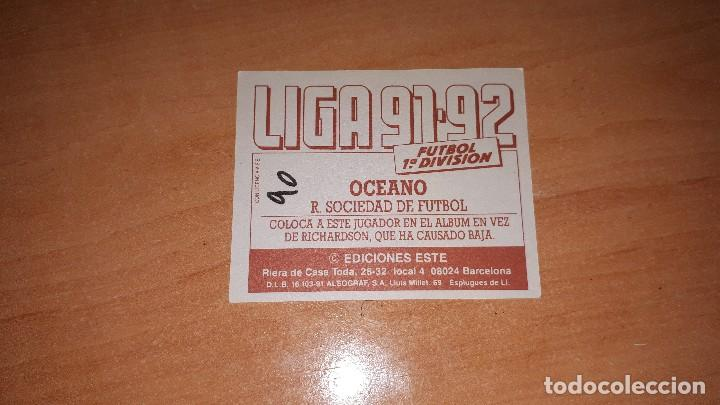 Cromos de Fútbol: Cromo Oceano 91-92 - Foto 2 - 122861151