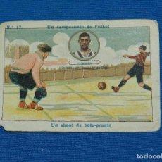 Cromos de Fútbol: SPORTING DE GIJON - GERMAN NUM 17 - UN CAMPEONATO DE FUTBOL, SEÑALES DE USO. Lote 122863959