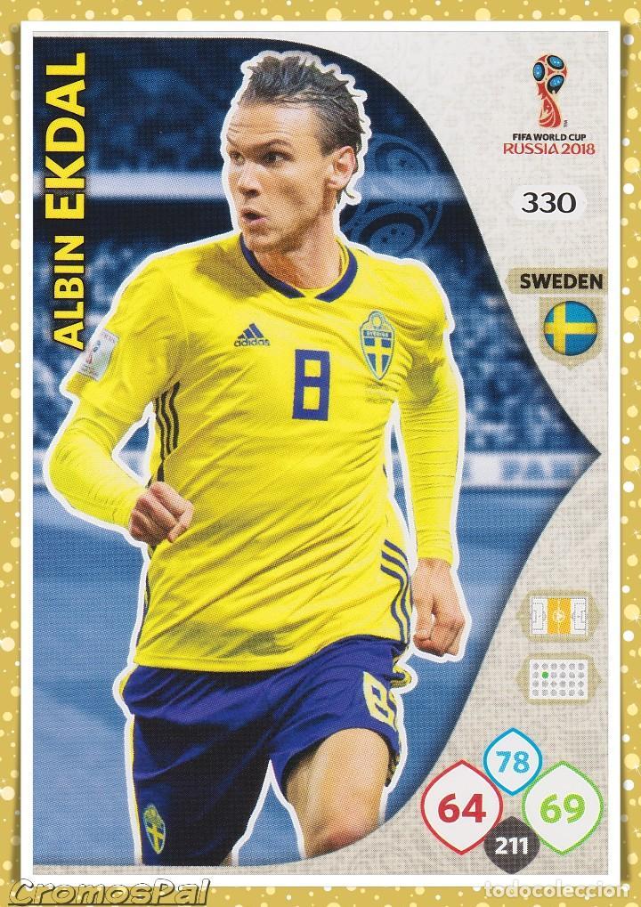 449e9b033 ADRENALYN XL RUSIA 2018  330 ALBIN EKDAL (SWEDEN) SIN ACTIVAR - FIFA WORLD  CUP RUSSIA PANINI