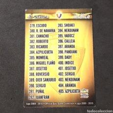 Cartes à collectionner de Football: MUNDICROMO FICHAS LIGA QUIZ 2009 2010 - OSASUNA - N°400 INDICE. Lote 123073748