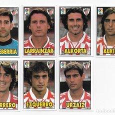 Cromos de Fútbol: 7 CROMOS FUTBOL ATHLETIC DE BILBAO, FICHAS MUNDICROMO LIGA 1998-1999 BIMBO (BONY TIGRETON) 98-99. Lote 123292871