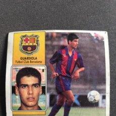 Cromos de Fútbol: ANTIGUO CROMO LIGA 92-93 ESTE GUARDIOLA FUTBOL CLUB BARCELONA BARÇA. Lote 123345255