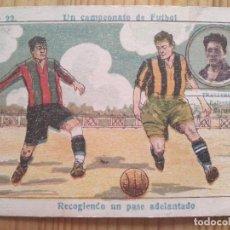 Cromos de Fútbol: UN CAMPEONATO DE FUTBOL Nº 22 ** TRALLERO * DEFENSA DEL MARTINENC P.C** AMATLLER. Lote 124264439
