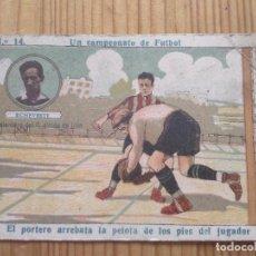 Cromos de Fútbol: UN CAMPEONATO DE FUTBOL Nº 14 ** ECHEVESTE DELANTERO DEL R. UNION DE IRUN ** AMATLLER. Lote 124265311