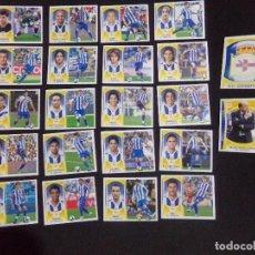 Cromos de Fútbol: LOTE DE 22 CROMOS DEL DEPORTIVO DE LA CORUÑA, LIGA ESTE 09-10 (2009-2010). Lote 124327711