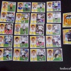 Cromos de Fútbol: LOTE DE 22 CROMOS DEL VALENCIA, LIGA ESTE 09-10 (2009-2010). Lote 124328059
