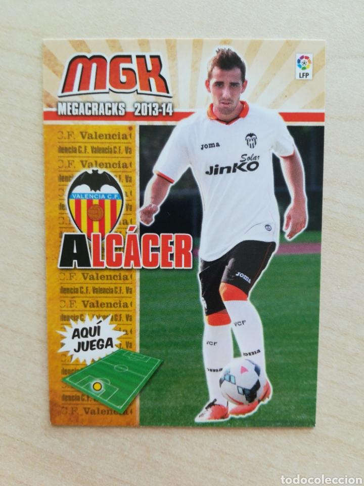 MGK 323 BIS ALCACER (VALENCIA C.F) FICHAJE , CROMO FUTBOL PANINI MEGACRACKS LIGA 2013 2014 , 13 14 (Coleccionismo Deportivo - Álbumes y Cromos de Deportes - Cromos de Fútbol)