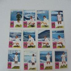 Cromos de Fútbol: 14 CROMOS. VALENCIA C. F. LIGA 1974/75. FHER. VARIOS CROMOS FIRMADOS.. Lote 125082739