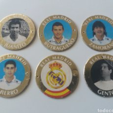 Cromos de Fútbol: LOTE 6 TAZOS DIARIO AS. REAL MADRID.. Lote 125127943
