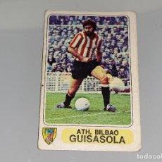 Cromos de Fútbol: ANTIGUO CROMO FUTBOL EN ACCION - LIGA 1977 - 78 - ATLETHIC BILBAO - GUISASOLA - PACOSA 2 SIN PEGAR. Lote 125895351